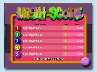 Spot the Diff' 2 - High Score Listing